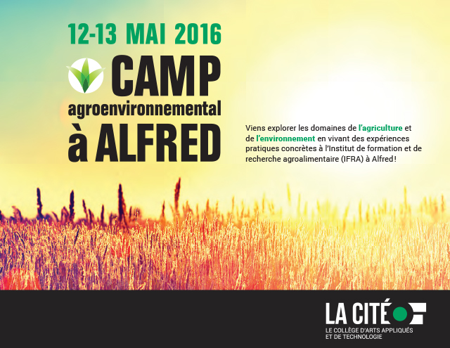 Camp agroenvironnemental à Alfred