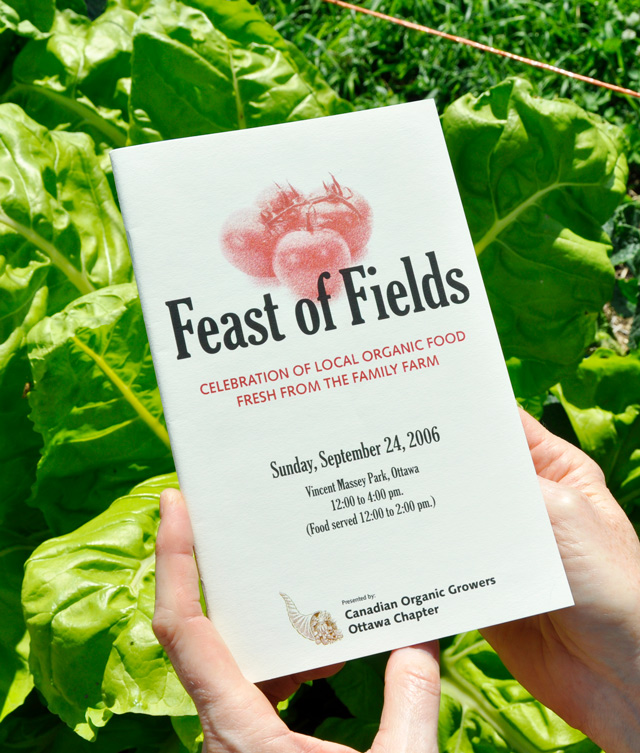 Feast of Fields Poster and Program